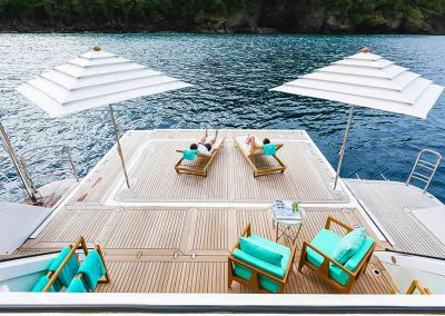 yachtingline-poker-umbrellas-inox-deck-Burgess-Charter-Yacht-Ramble-On-Rose-3
